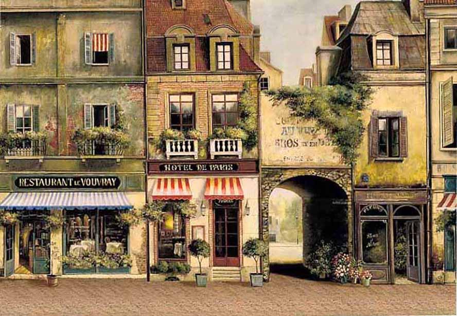 Fabrice De Villeneuve Cafe De Paris