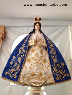 Virgen de la Salud de Pátzcuaro elaborada en Pasta de Caña de Maíz