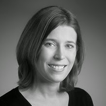 A black and white headshot of Jen Fitzpatrick from Google Capital