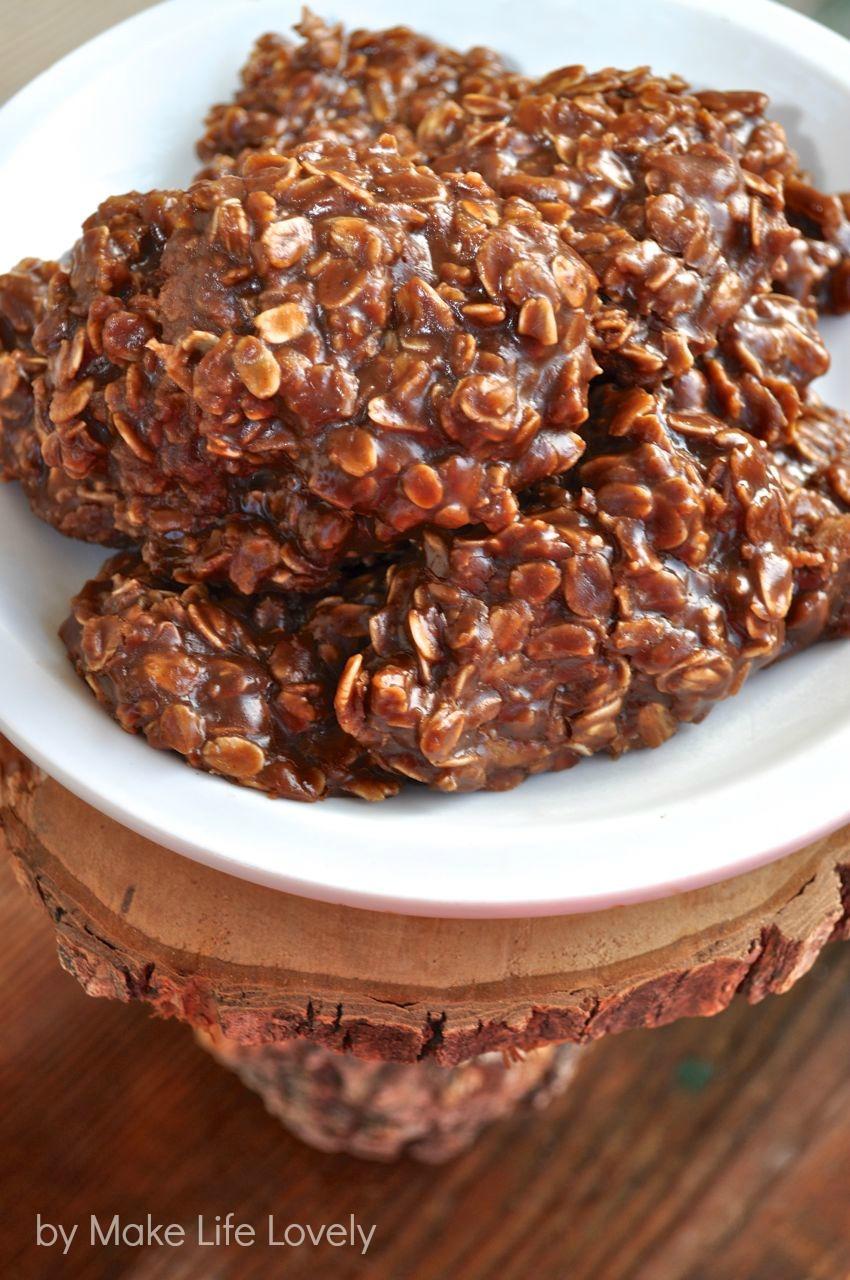Chocolate No Bake Cookies - Make Life Lovely