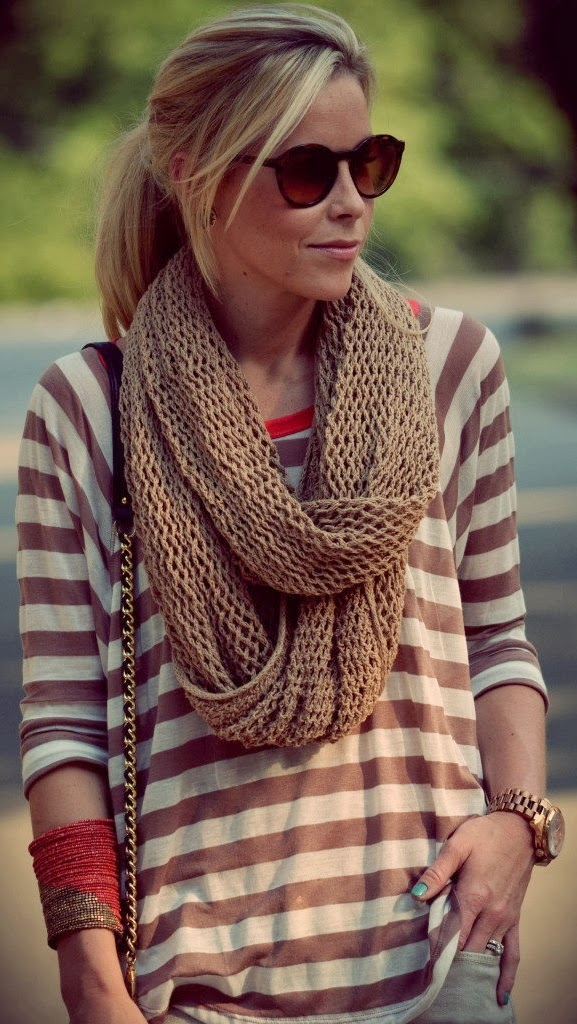 Fall street style fashion with infinity scarf