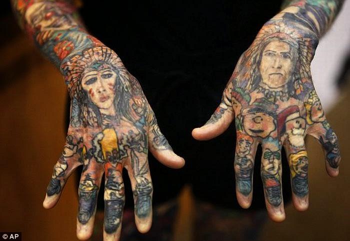 Julia Gnuse, la mujer mas tatuada del mundo, http://distopiamod.blogspot.com