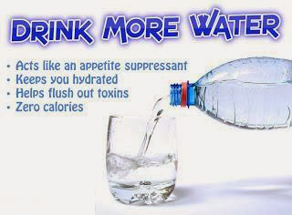 Nak kurus cepat minum lah banyak air