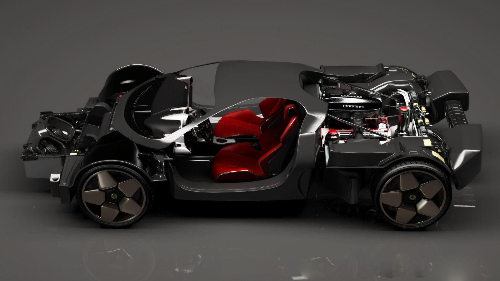 auto 2014 Ferrari GTE Concept Virtual por Angelo Granata