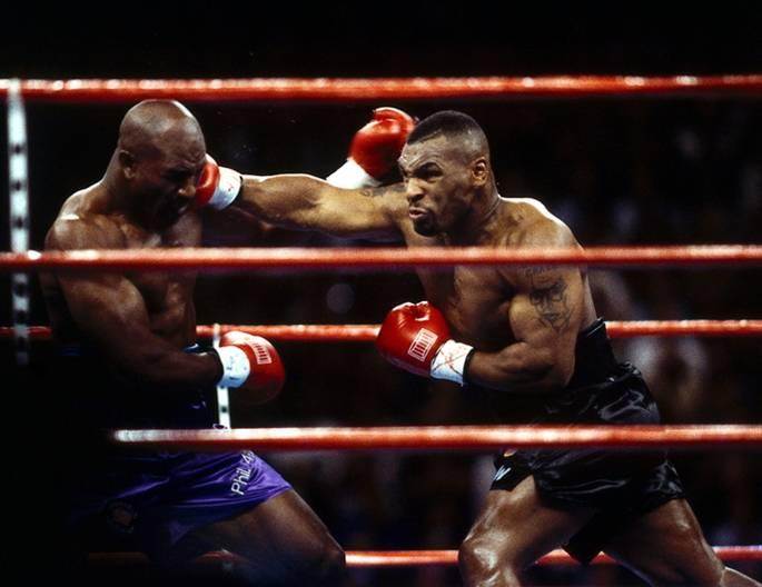 Evander Hollifield against Mike Tyson, 1996