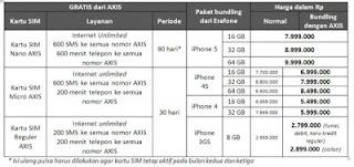 Inilah Paket Bundling iPhone dari AXIS