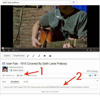 contoh screenshoot video youtube