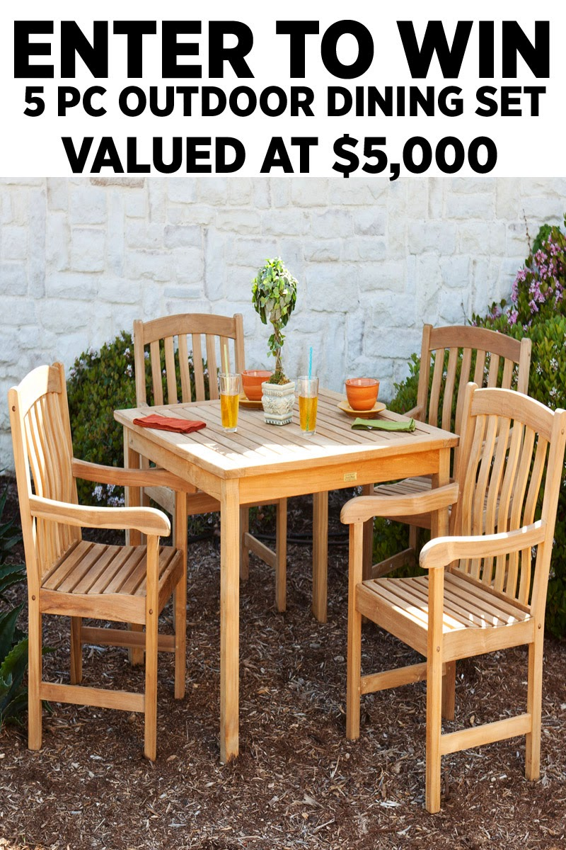 $5,000 Outdoor Dining Set Giveaway