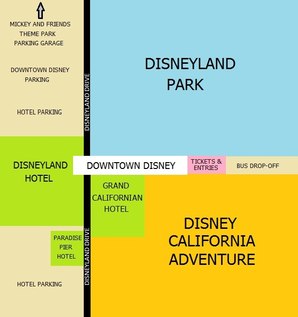 Mouse Troop: Disneyland Resort Map on