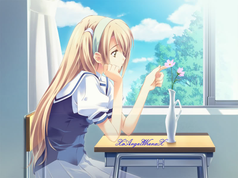 Anime Girl with Blonde Hair