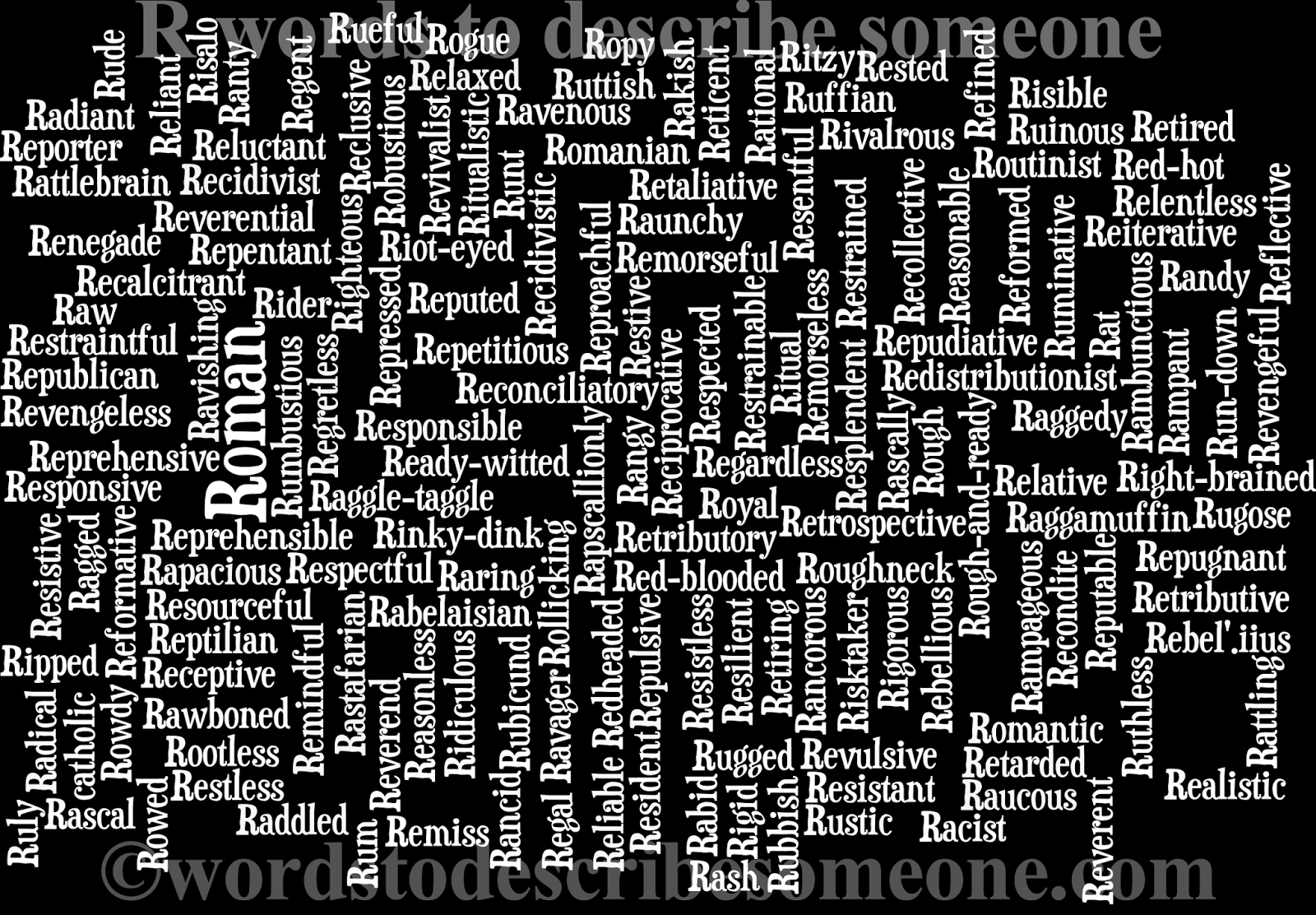 Words to describe someone image word cloud