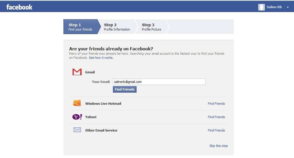how to create facebook account for my company