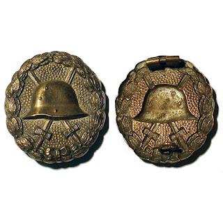 Insignia de herido de la primera guerra mundial, cat. oro