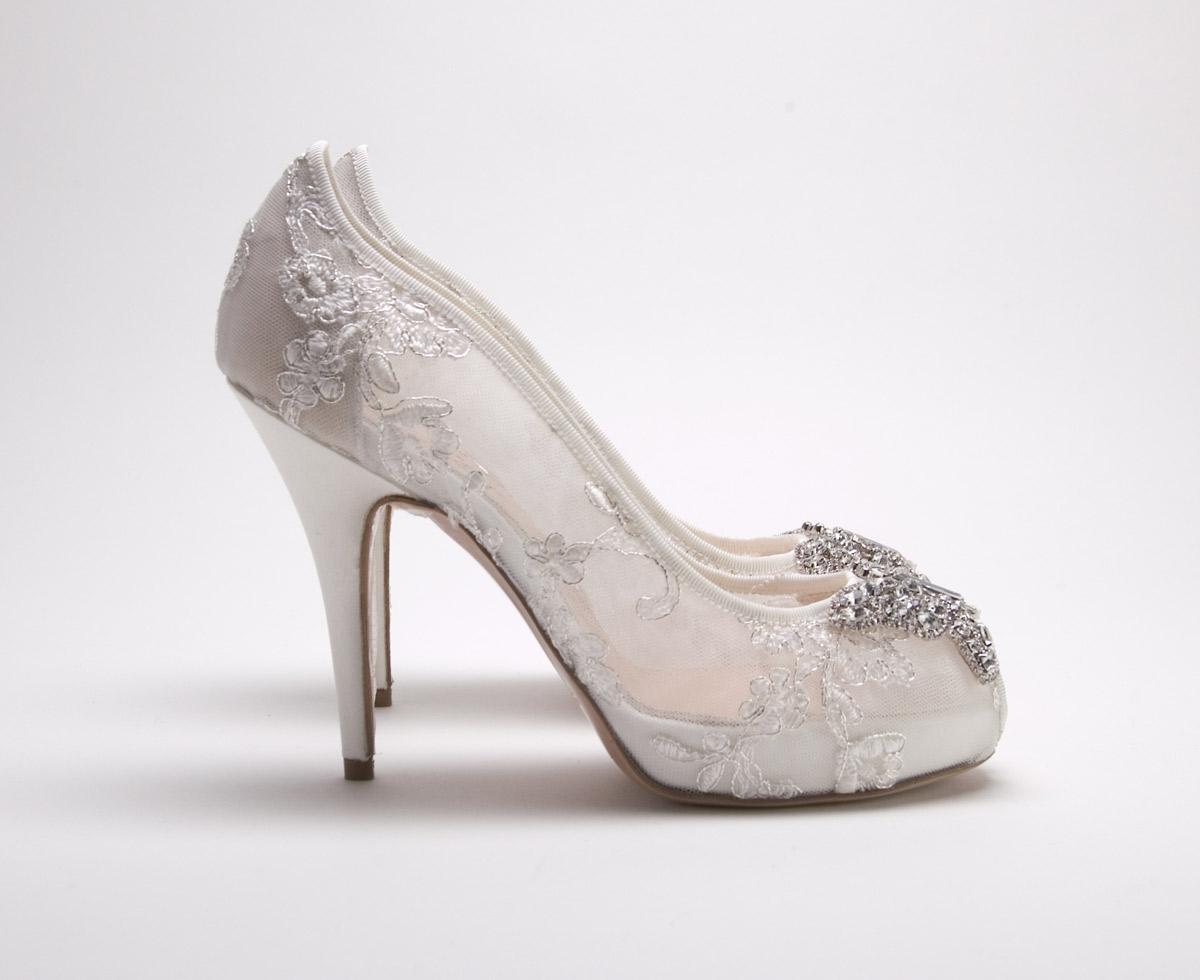 aruna seth new lace bridal shoes