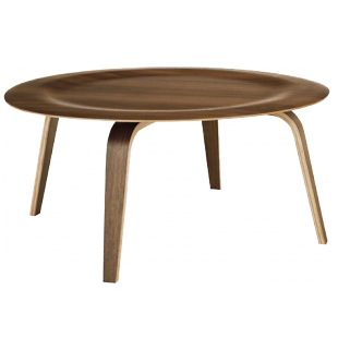 DESIGN WITHIN REACH EAMES  MOLDED PLYWOOD COFFEE TABLE