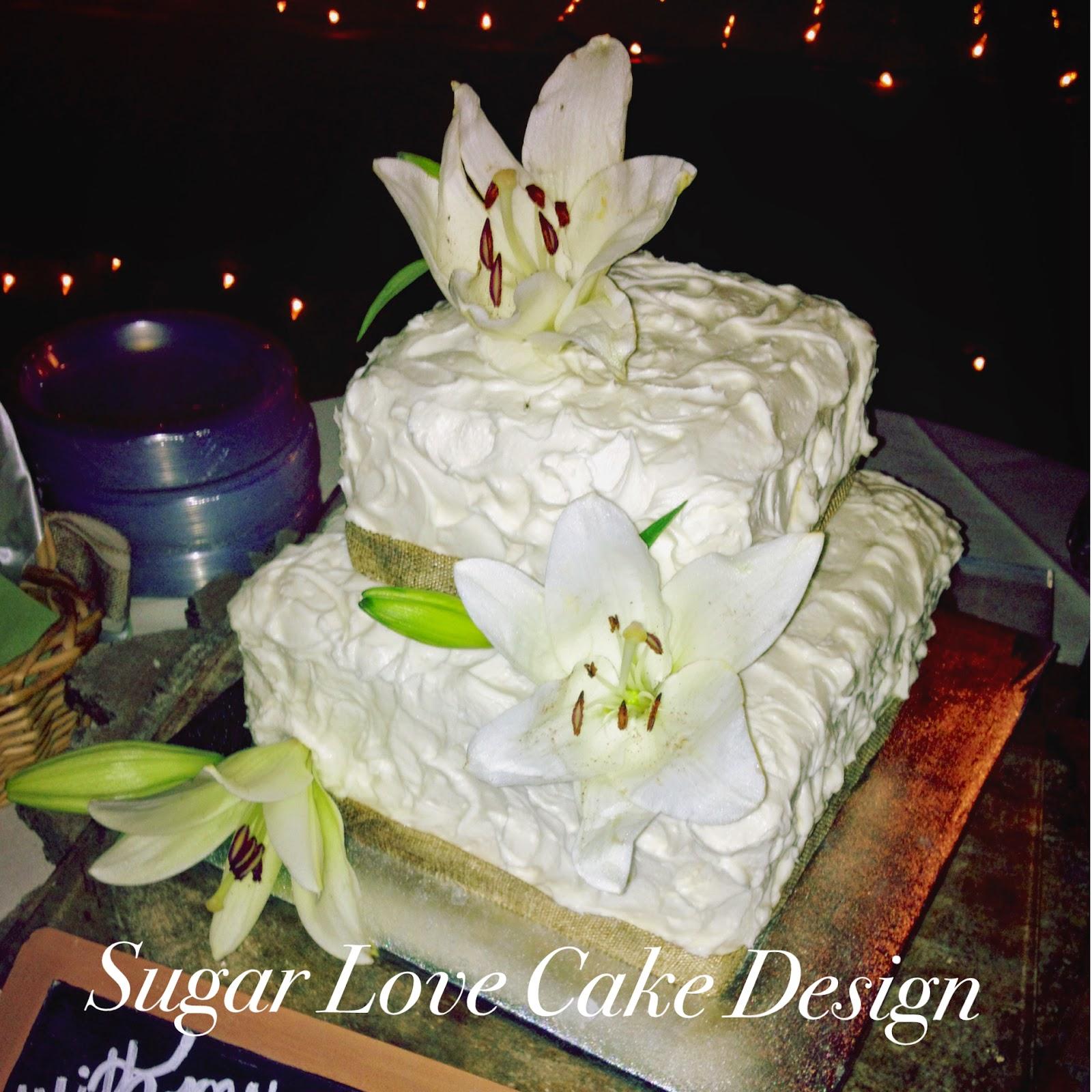 Sugar Love Cake Design Stargazer Lily Rustic Wedding Cake