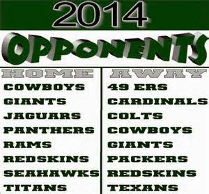 2014 Eagles Opponents