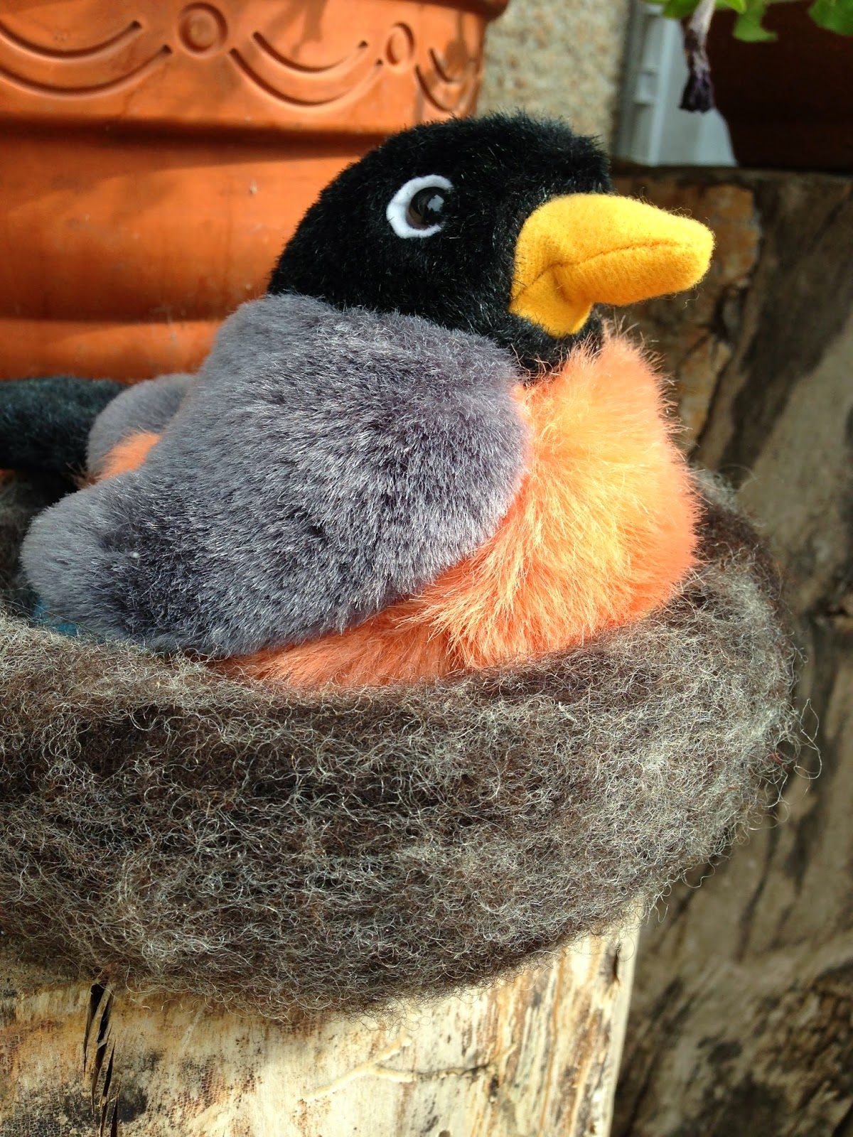 Spring Time is for the Birds - A Needle -  Felted Nest