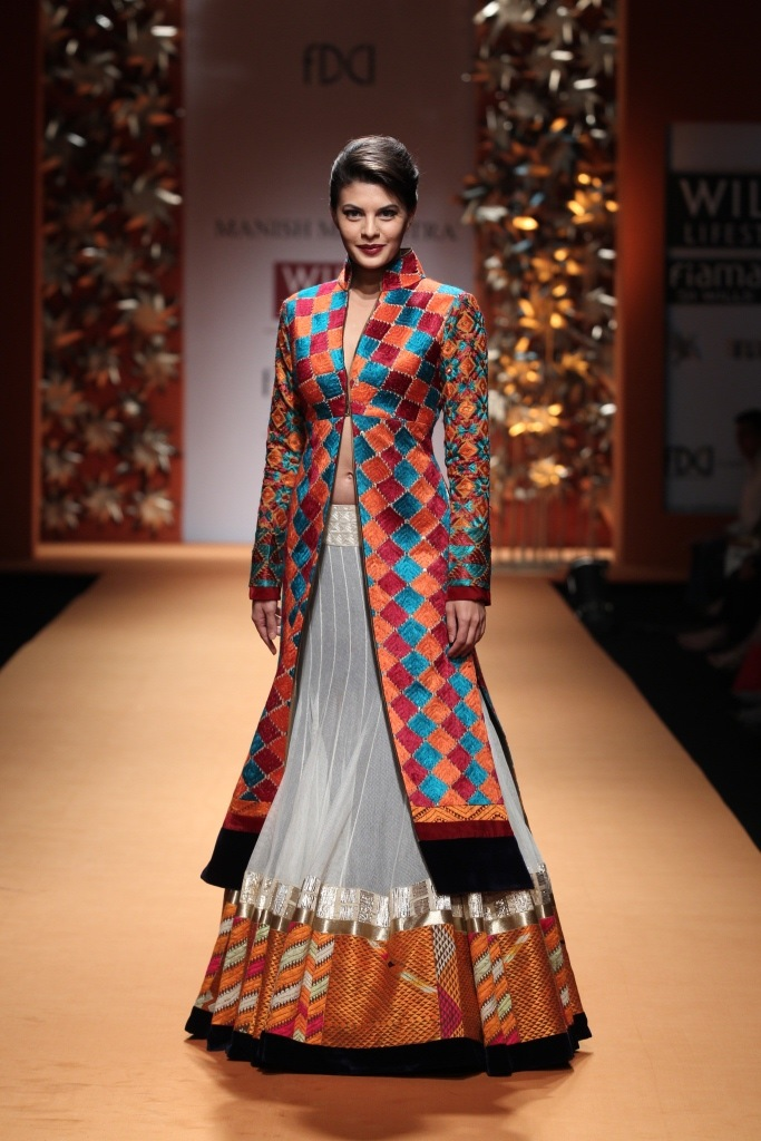 Orange And Pinkk Manish Malhotra 39 S Phulkari Collection