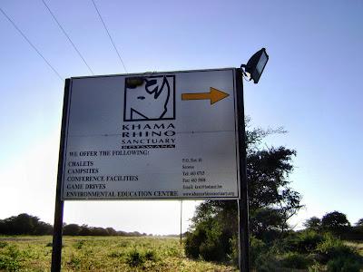 Khama Rhino Sanctuary w Botswanie
