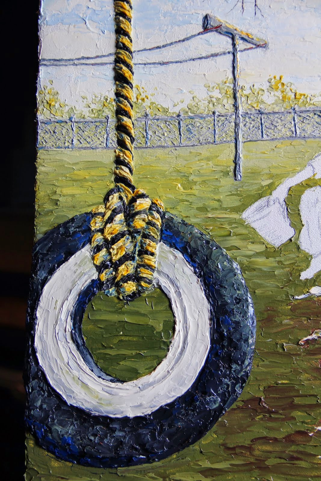 VIDEO-Painting a rope with a palette knife