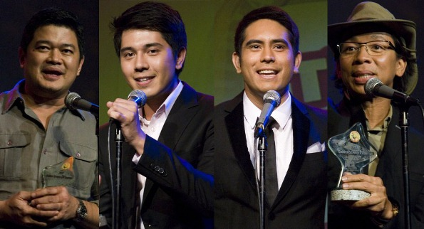 Golden Screen TV Awards 2013 winners: Julius Babao, Paulo Avelino, Gerald Anderson and Kim Atienza