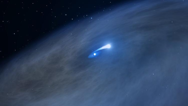 La estrella Nasty 1 está siendo devorada por su compañera