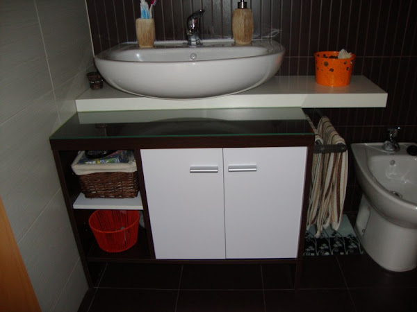 Como hacer mueble de bano - Muebles de bano para lavabos con pie ...