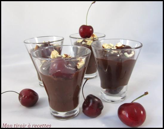 verrines cerises chocolat
