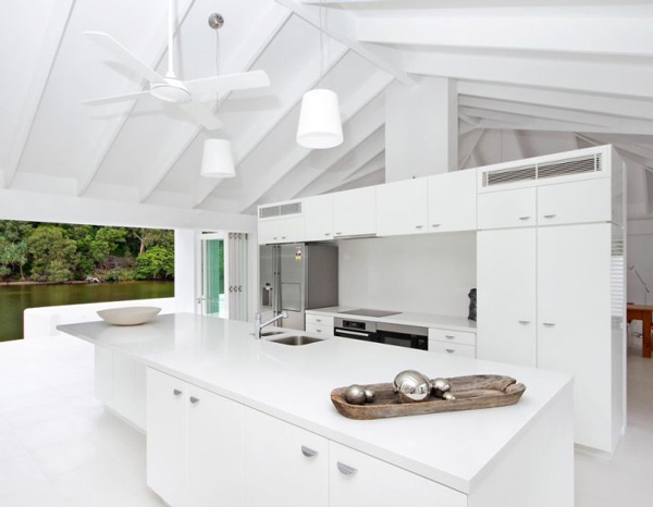 Kuki Design Exposed Beam Vaulted Ceiling