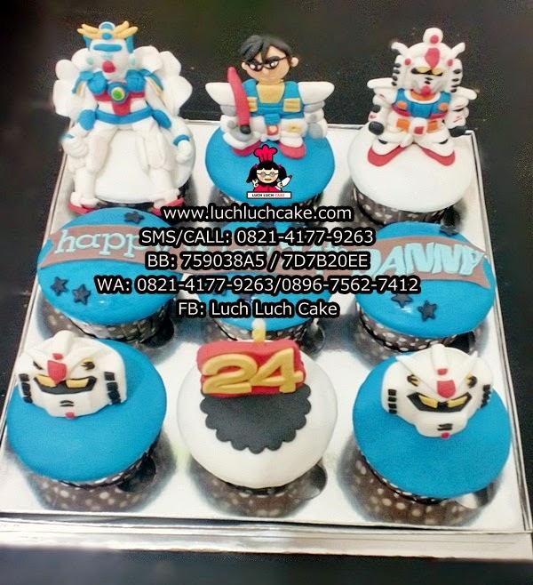 Cupcake Gundam Daerah Surabaya - Sidoarjo
