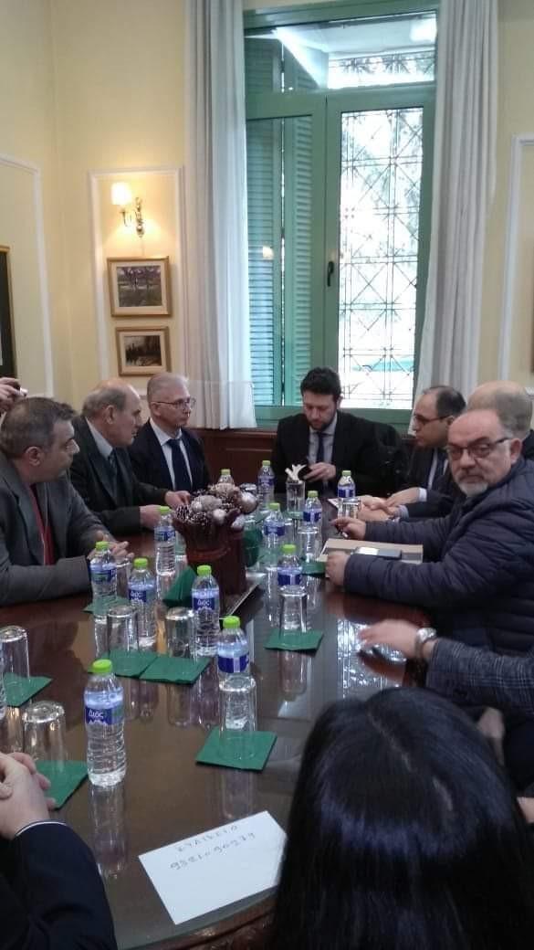 Συνάντηση εργασίας με το Γεν. Γραμματέα του Υπουργείου Δικαιοσύνης κ. Σάρλη