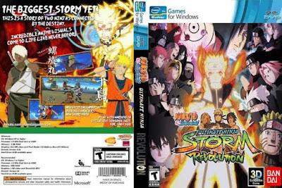 Jogo Naruto Ultimate Ninja Storm Revolution PC DVD Capa