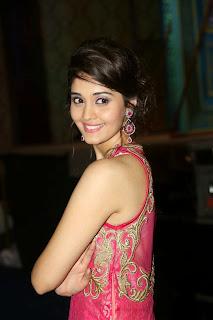 Actress Surabhi Picture in Long Dress at uva Audio Launch  14.jpg