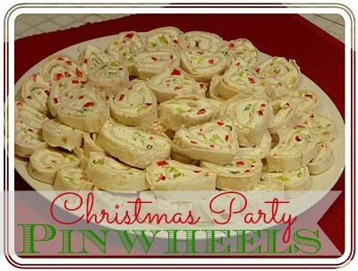 Christmas Party Pinwheels ~ The Rookie Cook