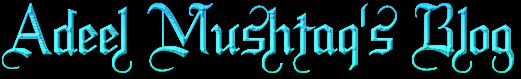 Adeel Mushtaq's Blog