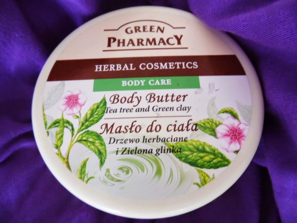 Green Pharmacy, Masło do ciała Drzewo herbaciane i zielona glinka - mój must have na cieplejsze dni