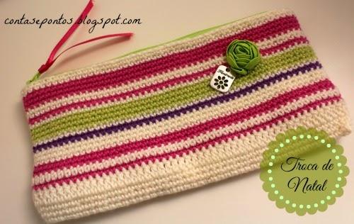 Estojo em crochet