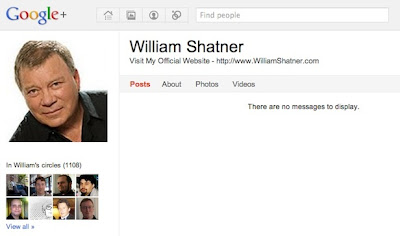 william shatner google plus
