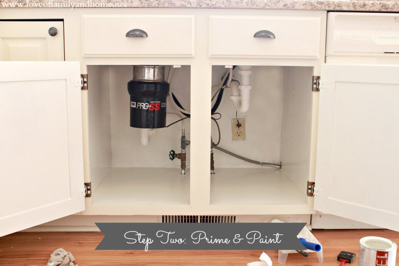 Kitchen Sink Cabinet cleaning & organizing under the kitchen sink - love of family & home