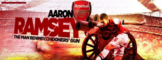 Ảnh bìa Facebook bóng đá - Cover FB Football timeline, Logo Arsenal FC, Ramsey