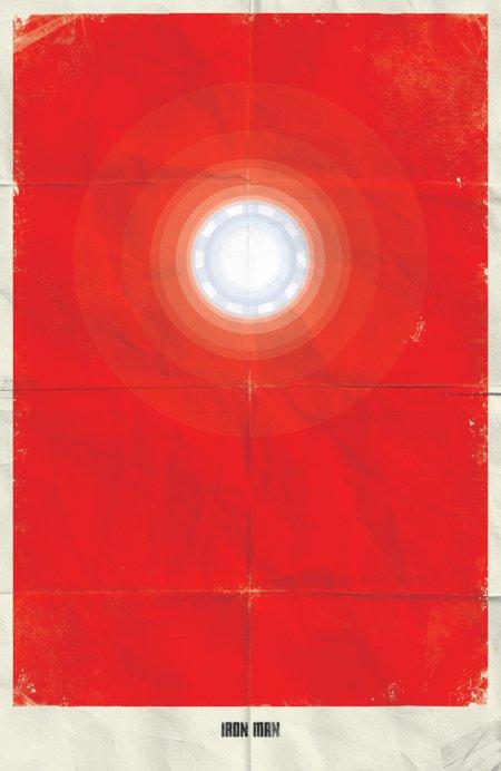 marko manev ilustração poster minimalista super heróis marvel Homem de Ferro