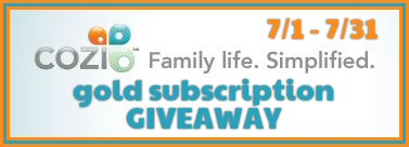 7/1 to 7/31 – Cozi Gold Subscription Giveaway!