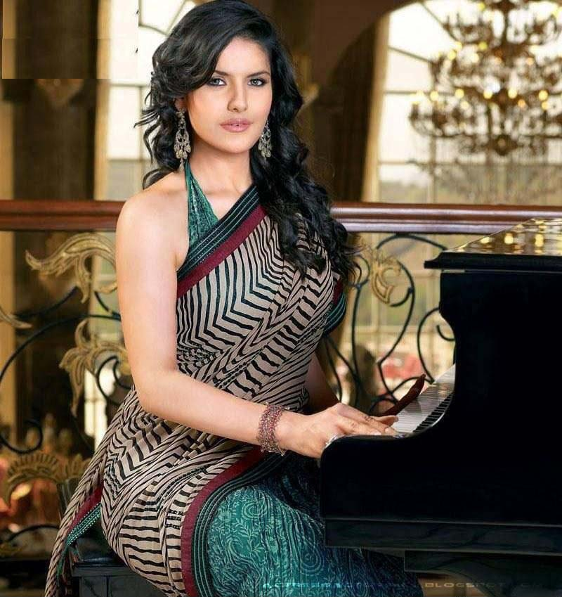 Zarine Khan In Saree Hot Pictures