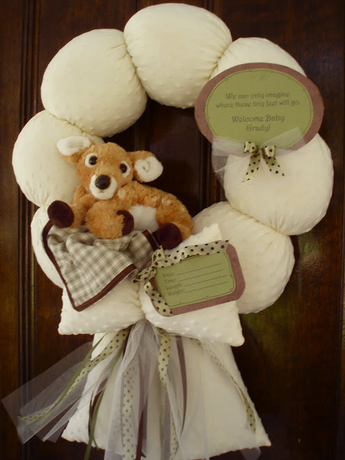"92. custom ""willow deer"" baby wreath"