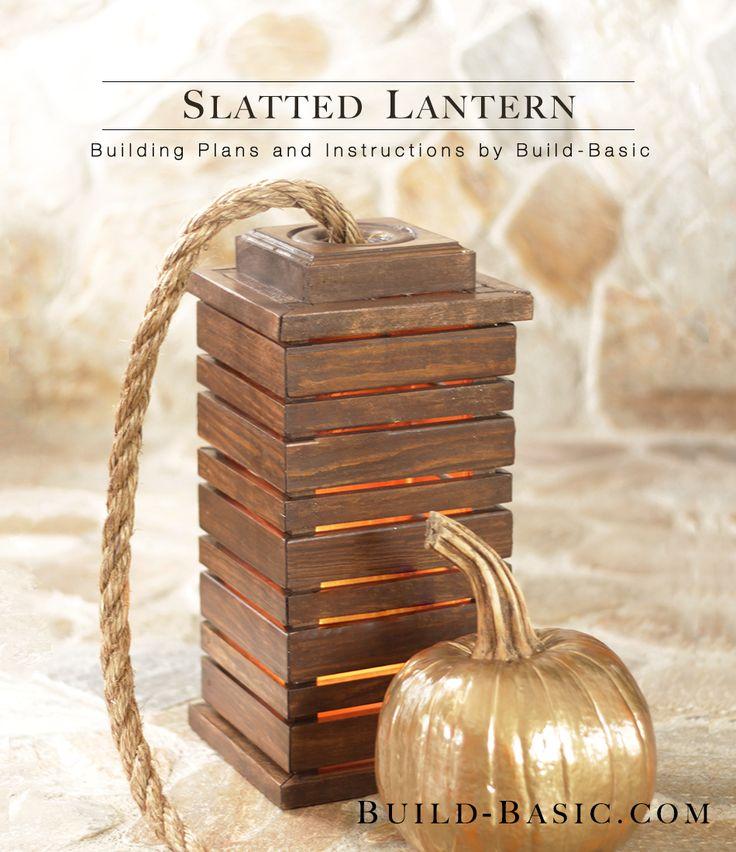 lanterna de madeira de reuso