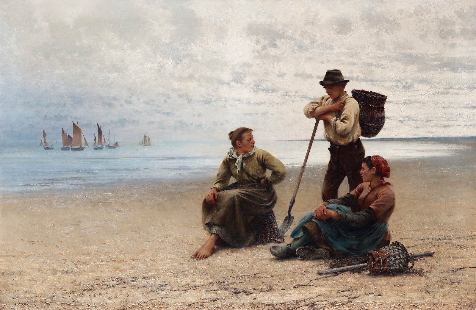 August Hagborg Conversation by the sea