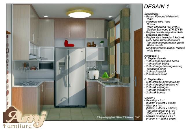 one furnish work solusi ruang dapur imut part 1