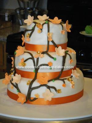 Orange Wedding Cakes With Accesories