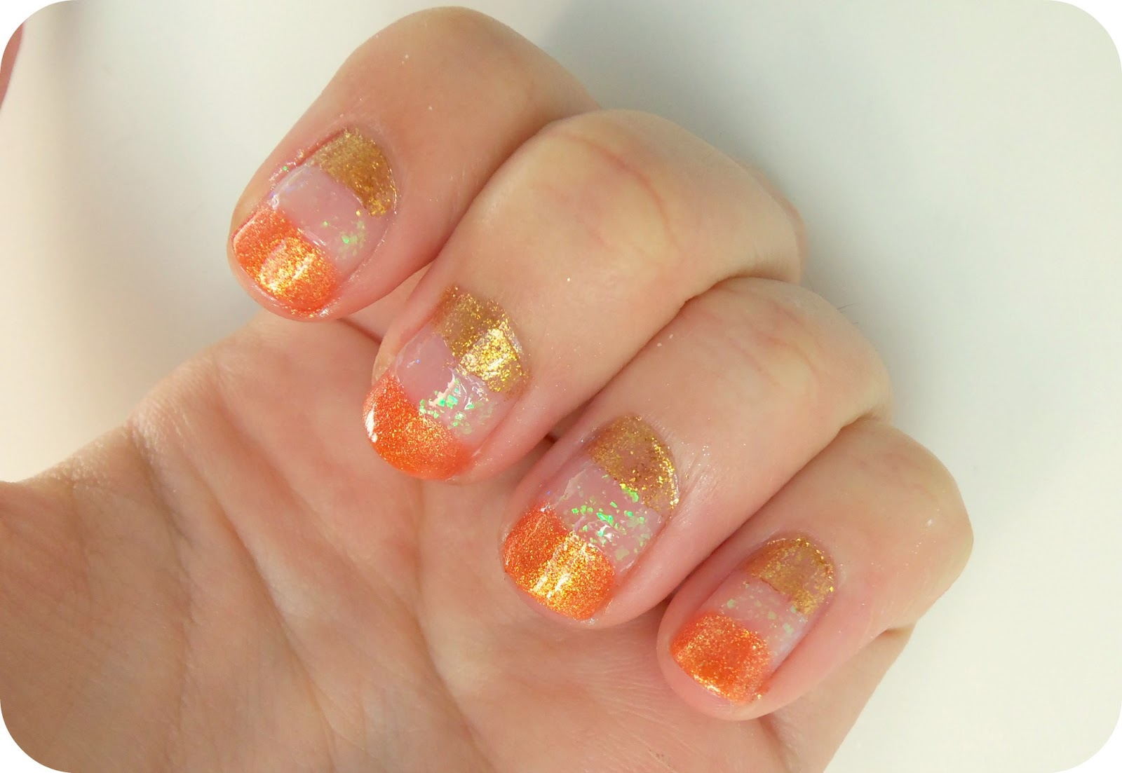 Glitter Candy Corn Nail Design For Halloween A Thing Of Beauty